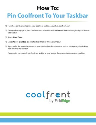 How To Pin Coolfront To Your Taskbar
