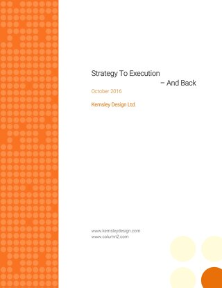 Strategy To Execution – And Back