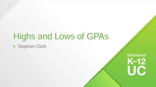 Highs and Lows of GPAs