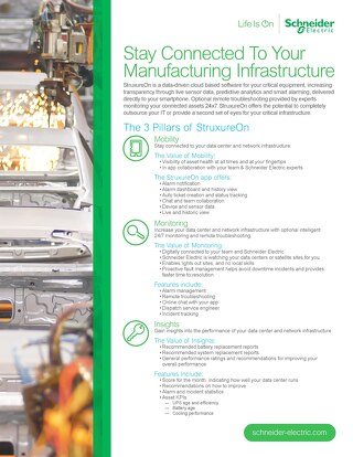 Stay Connected to Your Manufacturing Infrastructure