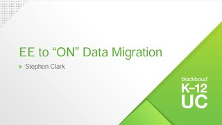 "Education Edge to ""ON"" Data Migration"