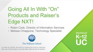 "Going All in with the ""ON"" Products and Raiser's Edge NXT"