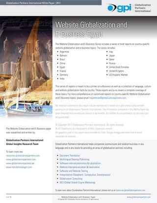 Website Globalization and E-Business Egypt