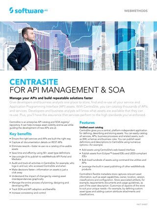 CentraSite for API Management and SOA