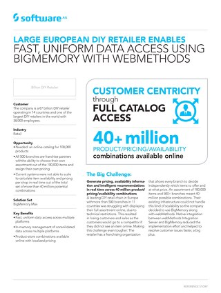 Retailer enables uniform data access