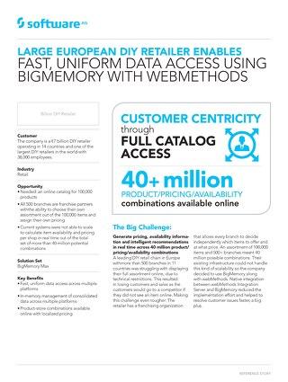 Retailer enables uniform data access