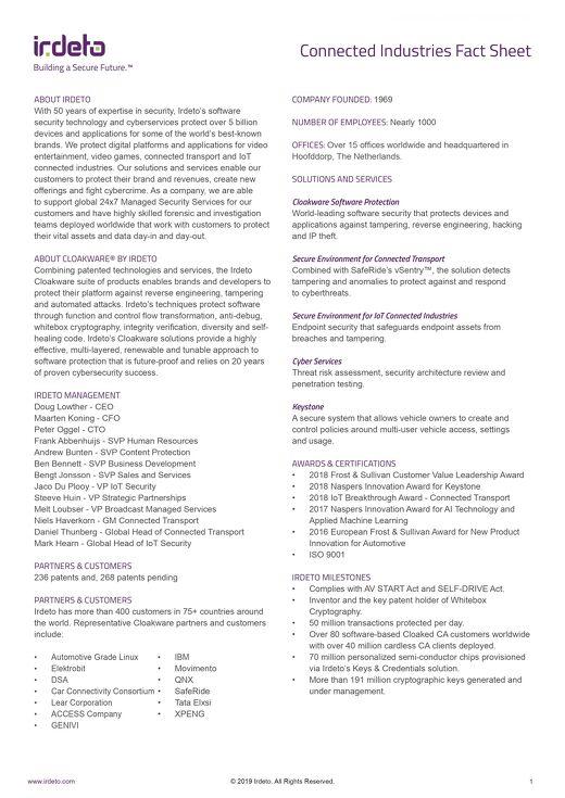 Cloakware Fact Sheet