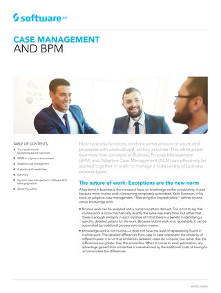 Case management & BPM