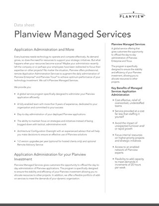 Planview Managed Services