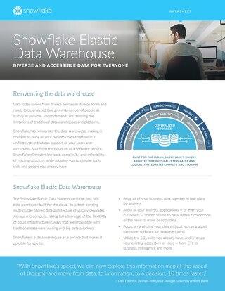 Snowflake Elastic Data Warehouse