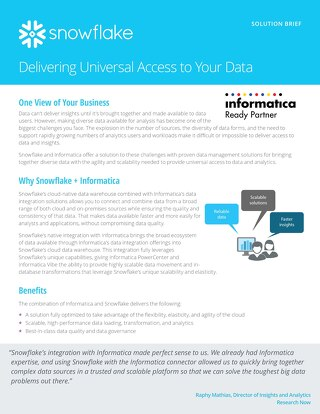Delivering Universal Access to Data