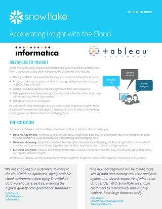 Accelerating Insight with the Cloud