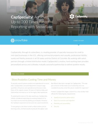 CapSpecialty Case Study
