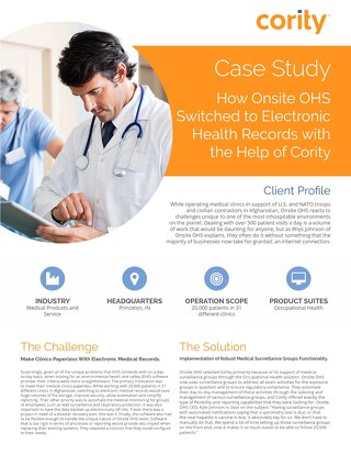 Onsite OHS Case Study - Cority
