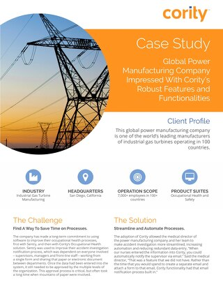 Global Power Manufacturing Company Case Study - Cority