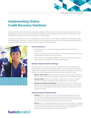 Credit Recovery Implementation Guide