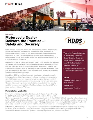 Harley Davidson Dealer Systems