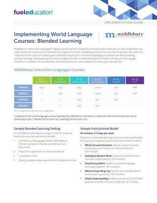 World Language Blended Learning Implementation Guide