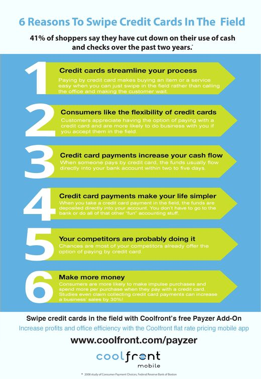 6 Reasons to Take Credit Cards in the Field