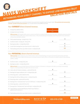 Rethinking the Direct Channel Worksheet (Vacation Rentals)