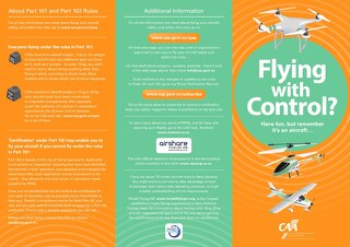 Flying with Control - NZ CAA 2017