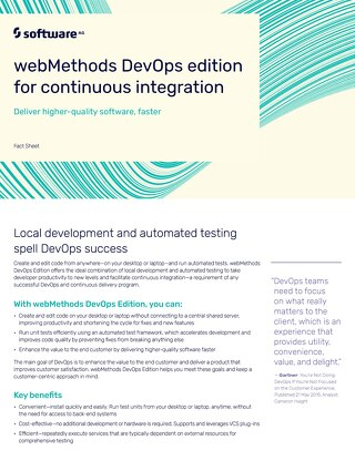 webMethods DevOps Edition