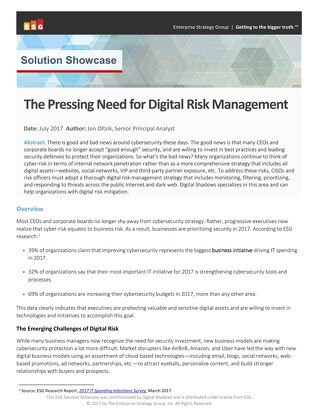 ESG: The Pressing Need for Digital Risk Management