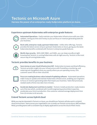 Tectonic on Microsoft Azure