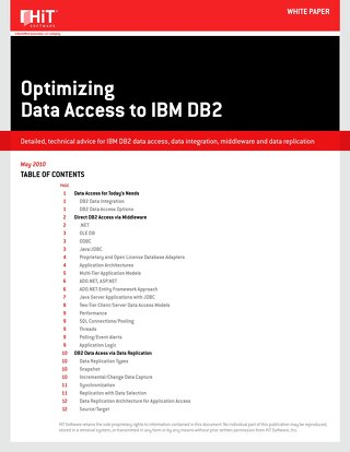 Optimizing Data Access to IBM DB2 [HiT Software]