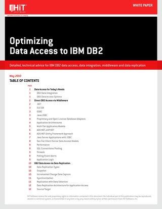 Optimizing Data Access to IBM DB2 [HiT Software]