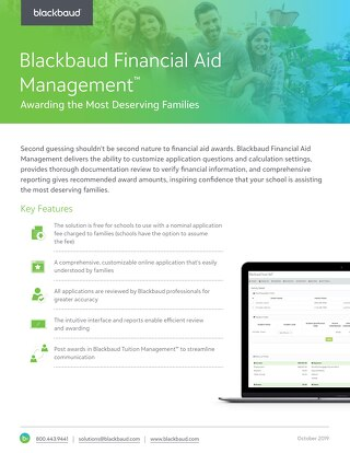 Blackbaud's Smart Aid: Award Financial Aid to the Most Deserving Families
