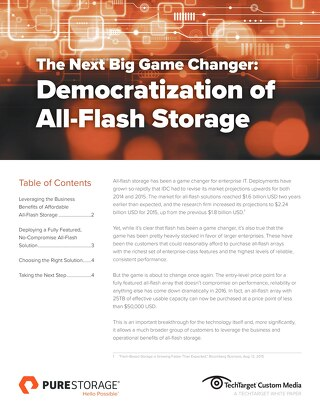 The Democratization of All-Flash Storage