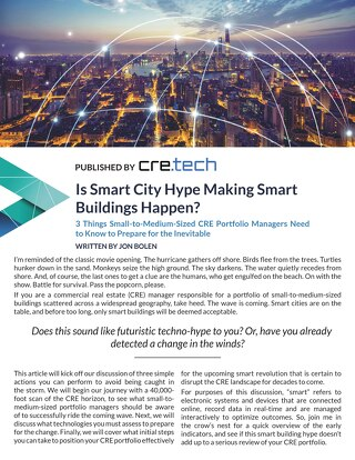 Is Smart City Hype Making Smart Buildings Happen by Jon Bolen