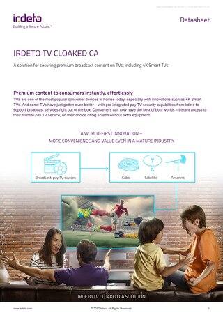 Datasheet: Irdeto TV Cloaked CA
