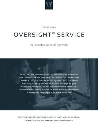Threat Stack Oversight Datasheet
