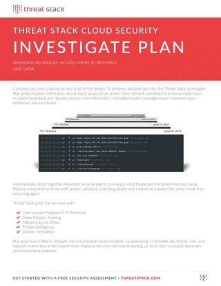 Threat Stack Investigate Datasheet