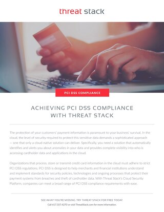 PCI DSS Compliance with Threat Stack