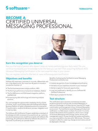 Get certified on Universal Messaging