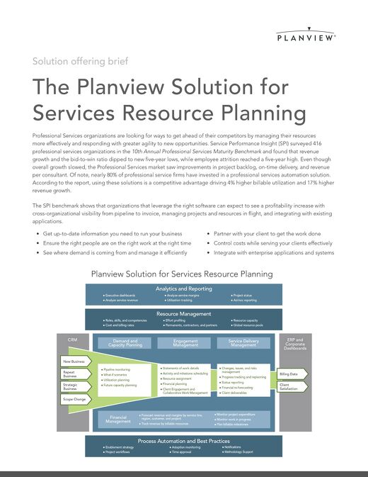 The Planview Solution for Services Resource Planning
