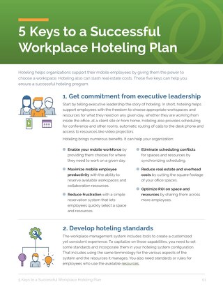 5 Keys to a Successful Workplace Hoteling Plan