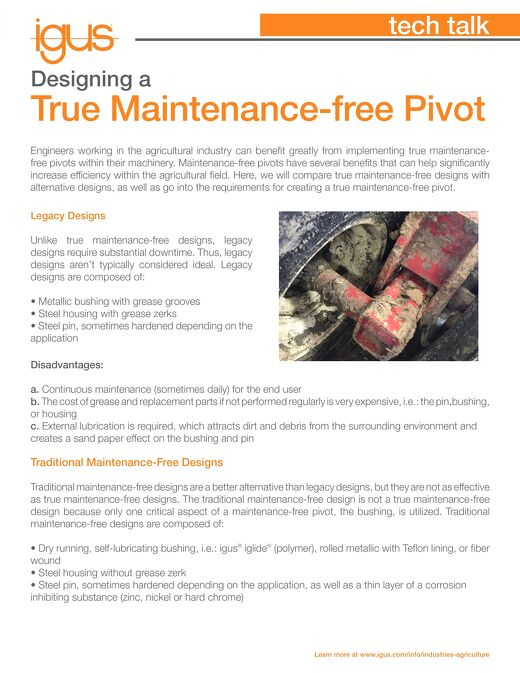 Designing a True Maintenance-Free Pivot