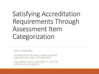 Satisfying Accreditation Requirements Through Assessment Item Categorization