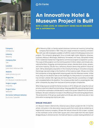 CB Masonry's Innovative Hotel and Museum Project