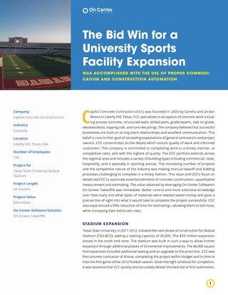 Capital Concrete Contractors' University Sports Facility Expansion