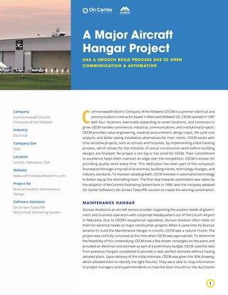 A Major Aircraft Hangar Project