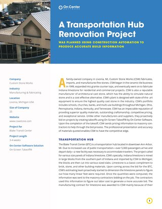 A Transportation Hub Renovation Project