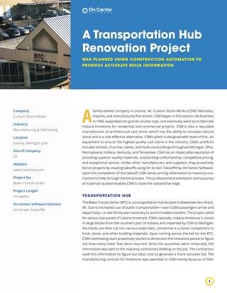 A Transportation Hub Renovation Project