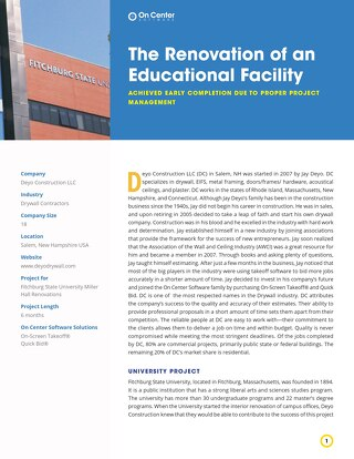 The Renovation of an Educational Facility