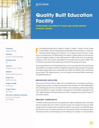 Quality Built Education Facility