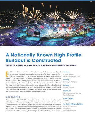 A Nationally Known High Profile Buildout is Constructed